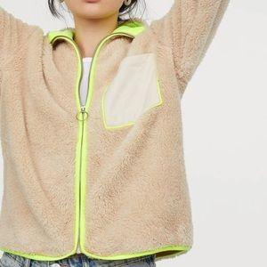 H&M Fleece Shearling Jacket